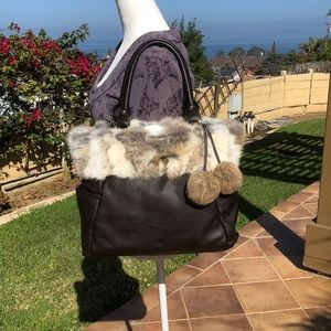 👜 Genuine Leather & Fur tote bag